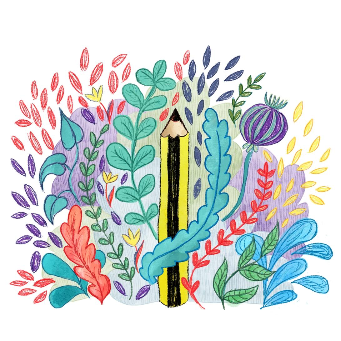Pencil In The Garden