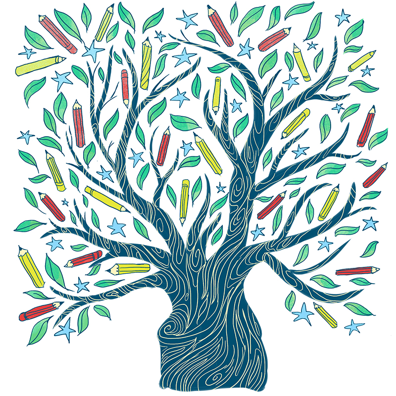 drawing outdoors tree